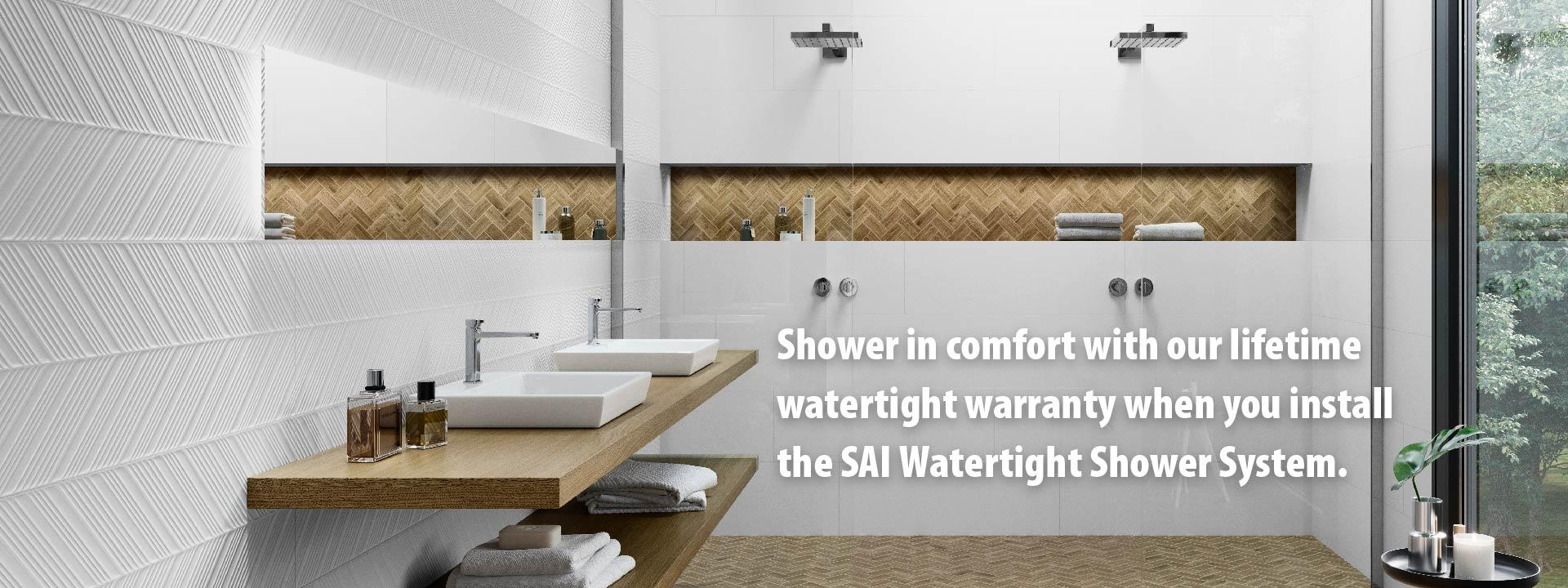 Surface Art Watertight Shower System